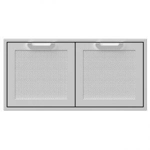 Hestan 42 Inch Double Access Doors Stainless Steel