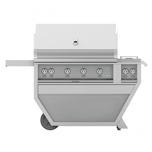 Hestan Outdoor 60-Inch Deluxe Gas Grill Cart Stainless Steel