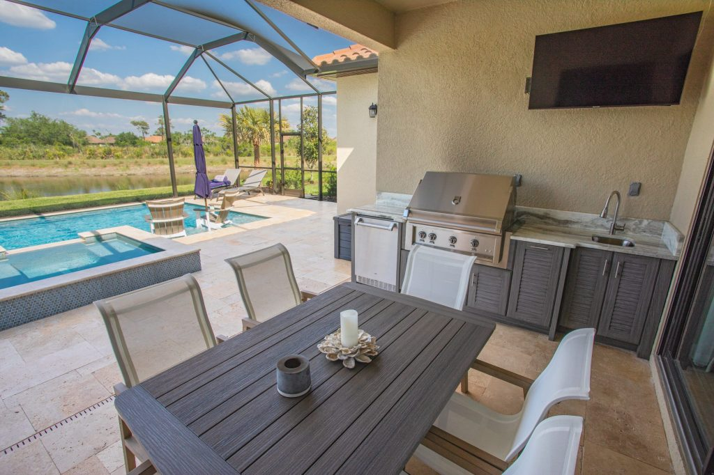 Custom Outdoor Kitchen With Hestan Grill In Tampa   Just Grillin Outdoor Living