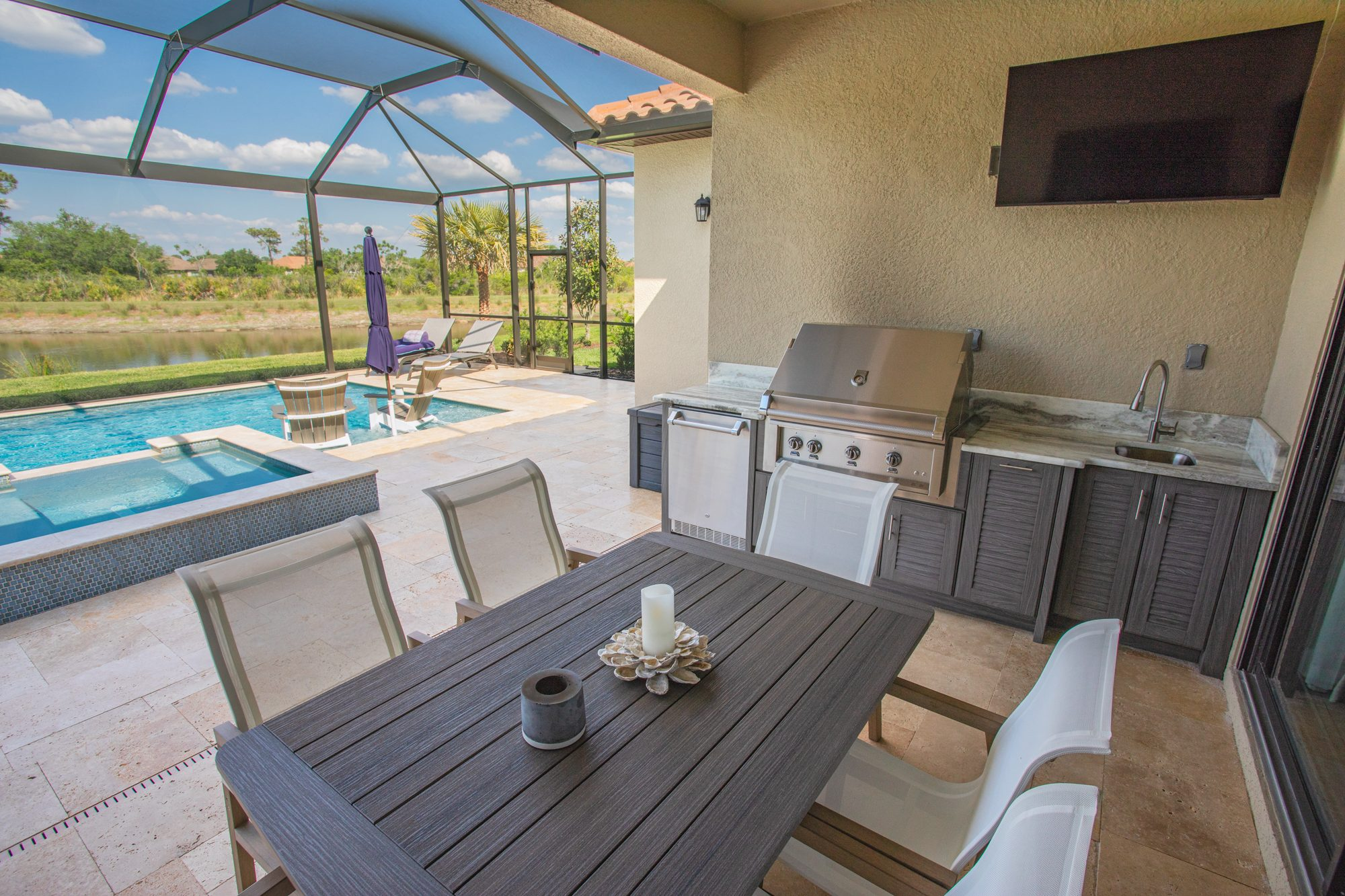 Custom Outdoor Kitchen With Hestan Grill In Tampa | Just Grillin Outdoor Living