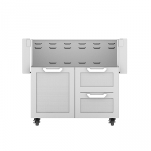 Hestan Outdoor 36-Inch Tower Gas Grill Cart Double Drawers and Single Door Stainless Steel