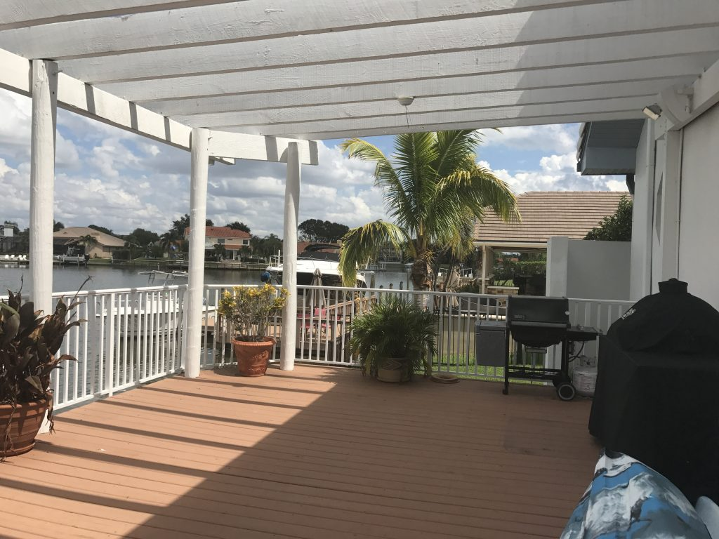 Outdoor Kitchen Roof Extension And New Deck In Tampa