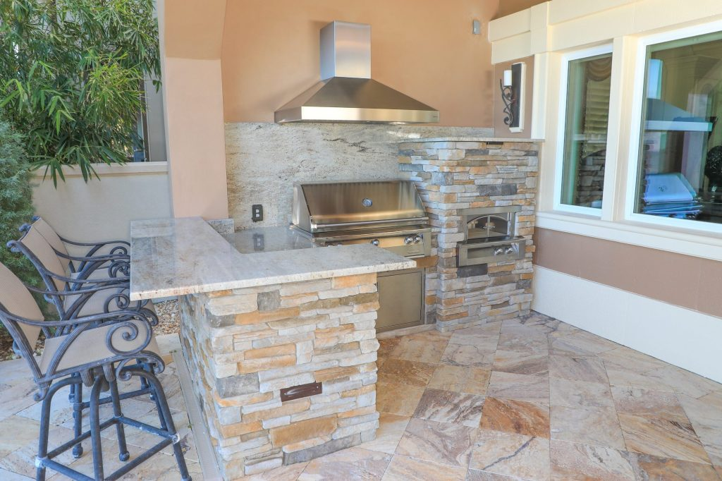 Alfresco Grill And Alfresco Pizza Oven In Outdoor Kitchen