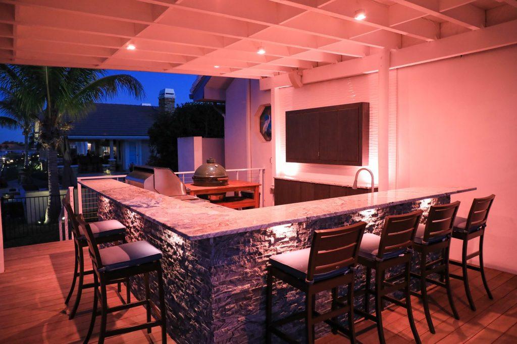 Outdoor Kitchen Programmable Kitchen Lighting