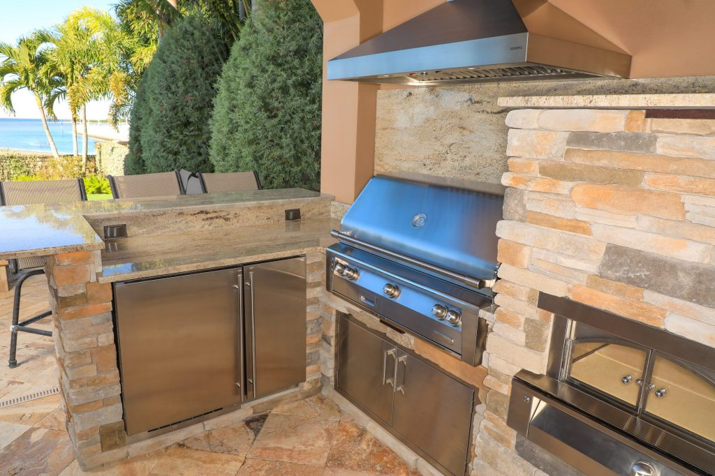 Custom Outdoor Kitchen With Alfresco and U-Line Appliances