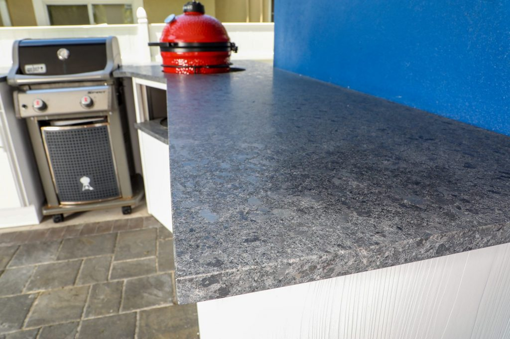 leather granite outdoor kitchen