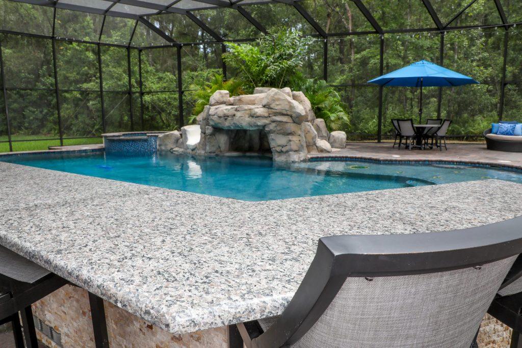 Granite Counter Pool Bar