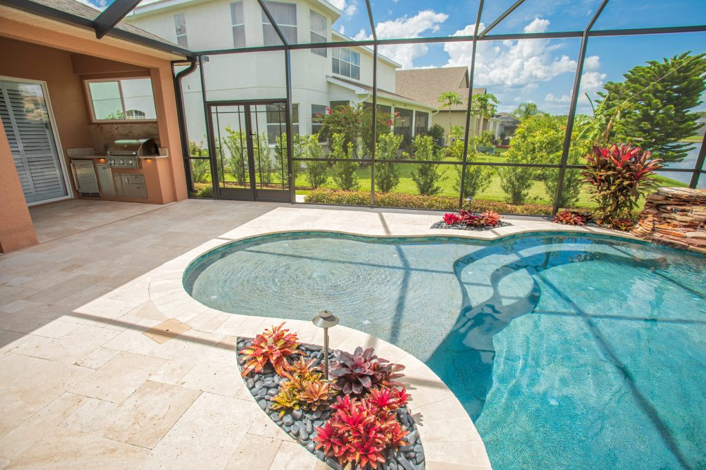 Custom Outdoor Kitchen And Fire Pit   Tampa, Florida