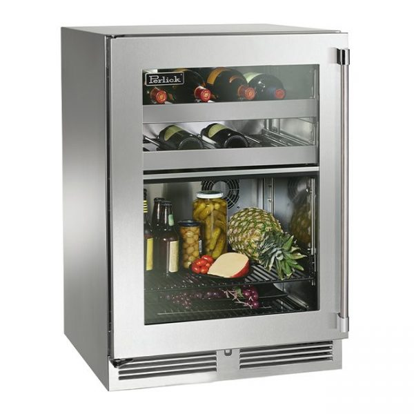 Perlick 24 Inch Signature Series Dual-Zone Outdoor Refrigerator and Wine Reserve