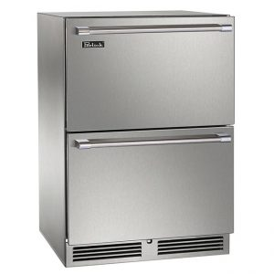 Perlick 24 Inch Signature Series Dual-Zone Outdoor Freezer and Refrigerator Drawers