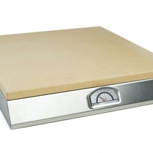 Pizza Craft Pizza Stone Grill with Thermometer