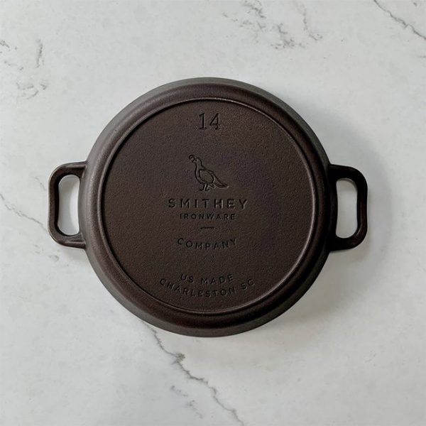 Smithey Ironware Co. No. 14 Dual Handle Cast Iron Skillet
