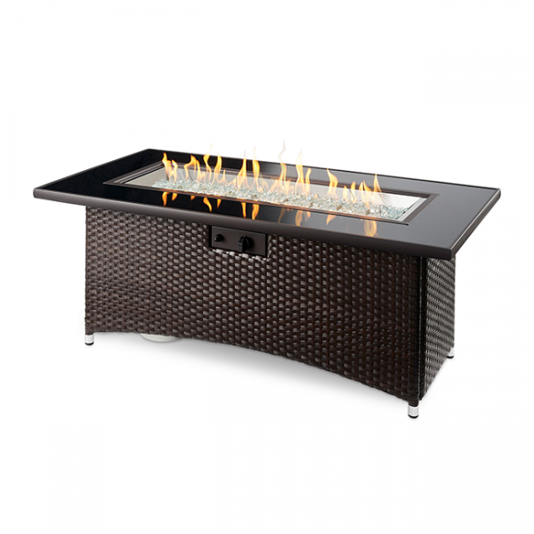 The Outdoor Greatroom Company Balsam Montego Linear Gas Fire Pit Table