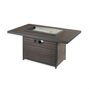 The Outdoor Greatroom Company Brooks Rectangular Gas Fire Pit Table