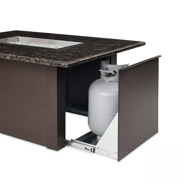 The Outdoor Greatroom Company Brown Grandstone Rectangular Gas Fire Pit Table