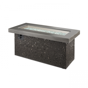 The Outdoor Greatroom Company Grey Key Largo Linear Gas Fire Pit Table
