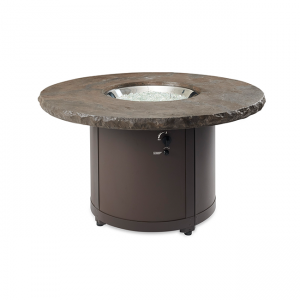 The Outdoor Greatroom Company Marbleized Noche Beacon Chat Height Gas Fire Pit Table