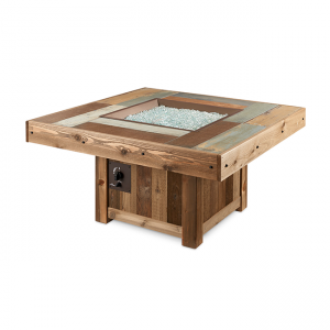 The Outdoor Greatroom Company Vintage Square Gas Fire Pit Table