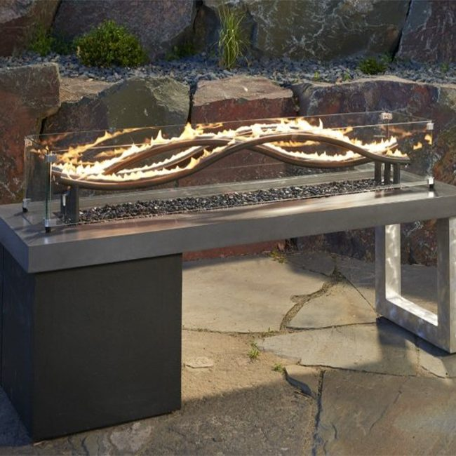 The Outdoor Greatroom Company Wave Gas Fire Pit Table Just Grillin Living