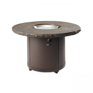 The Outdoor Greatroom Marbleized Noche Beacon Dining Height Gas Fire Pit Table