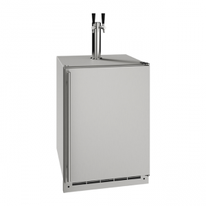 U-Line 24 Inch Stainless Keg Refrigerator with Reversible Hinge