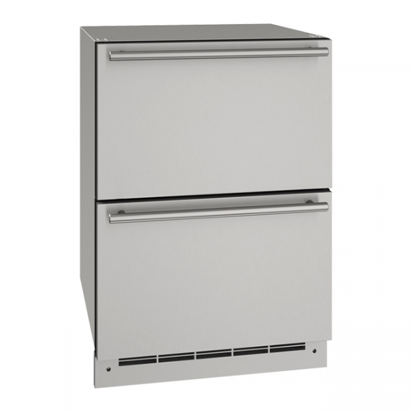 U-Line 24 Inch Stainless Outdoor Refrigerator Drawers