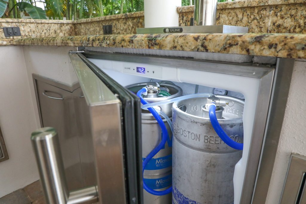 outdoor kitchen kegerator
