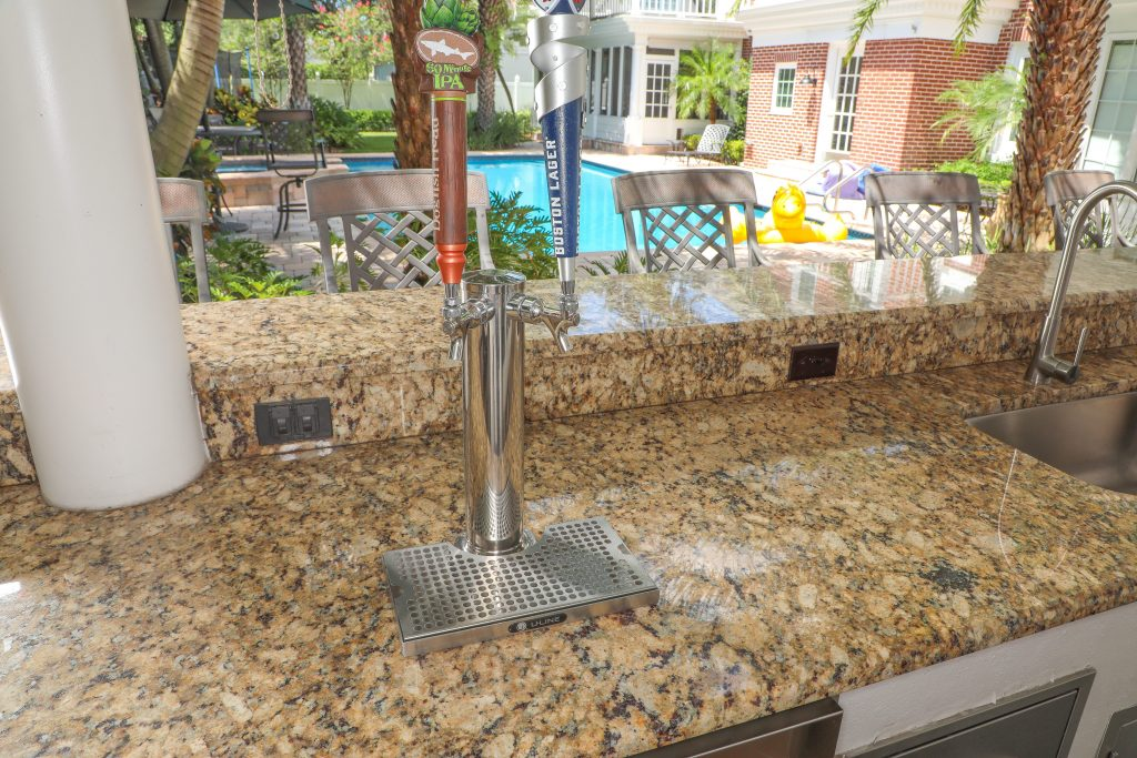 outdoor kitchen beer dispenser