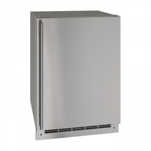 U-line 24 Inch Stainless Outdoor Freezer with Reversible Hinge