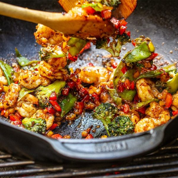 wok for grill