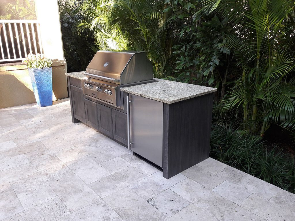 Simple Outdoor Kitchen In South Tampa Just Grillin Florida